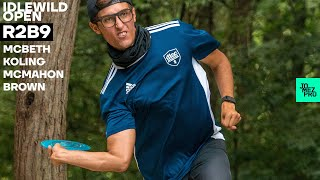 2020 IDLEWILD OPEN | R2B9 LEAD | McBeth, Koling, McMahon, Brown | Jomez Disc Golf