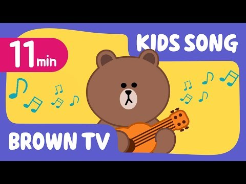 [Brown TV] Super Simple KIDS SONG 7   11min   Line Friends Kids Songs
