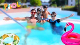 فعاليات رحلتنا في المنتجع🏖⛱نور سبحت بمسبح الاطفال 😂عصام ونور