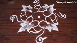 Simple and easy birds rangoli with 7x1 dots | Ducks kolam designs | Muggulu for beginners