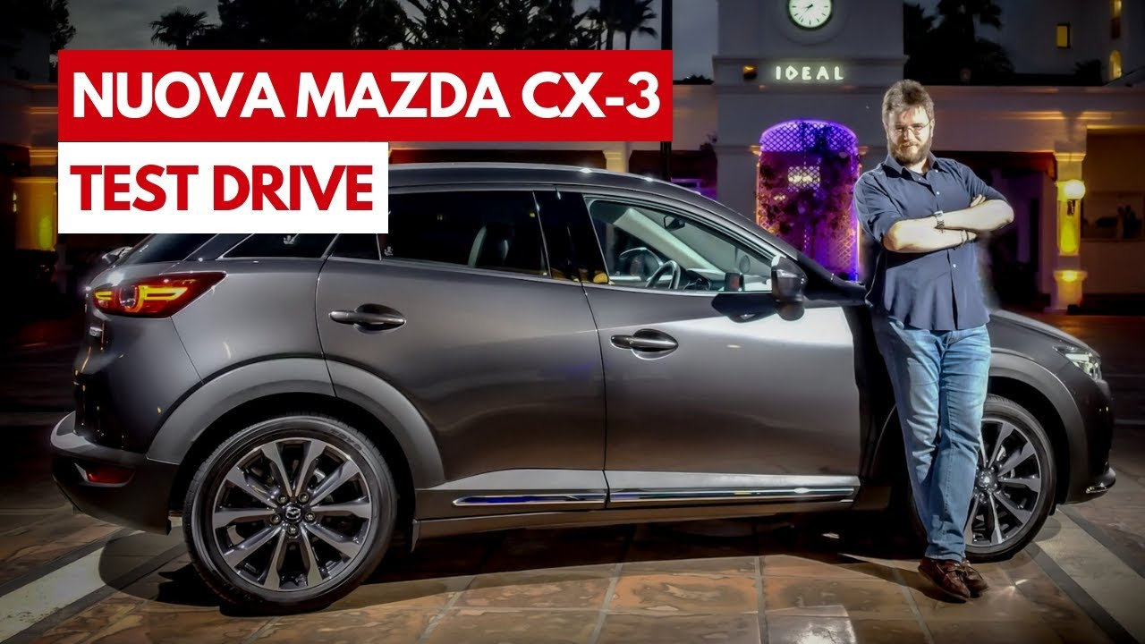 nuova mazda cx 3 test drive in anteprima dei nuovi. Black Bedroom Furniture Sets. Home Design Ideas