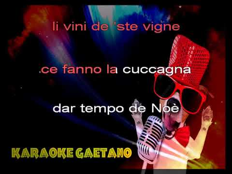 Canzoni Romane Nanni Na gita a li castelli Karaoke