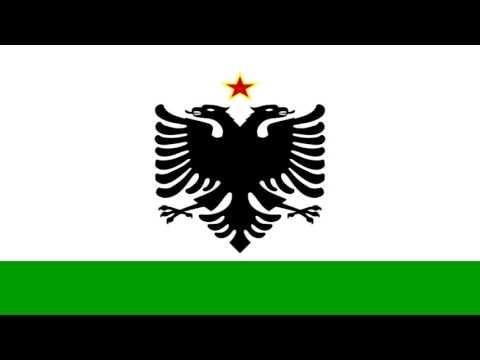 Enseña de la Guardia Costera de Albania (1958-92) -  Coast Guard ensign of Albania (1958-92)