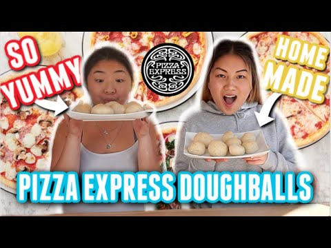 Making HOMEMADE PIZZA EXPRESS DOUGH BALLS!! | Zoe And Mia