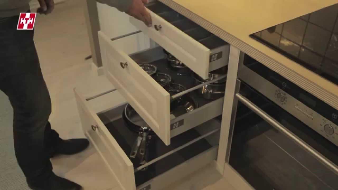 Inredning kökslådor inredning : Byt frÃ¥n skÃ¥p till lÃ¥der | HTH Kök - YouTube