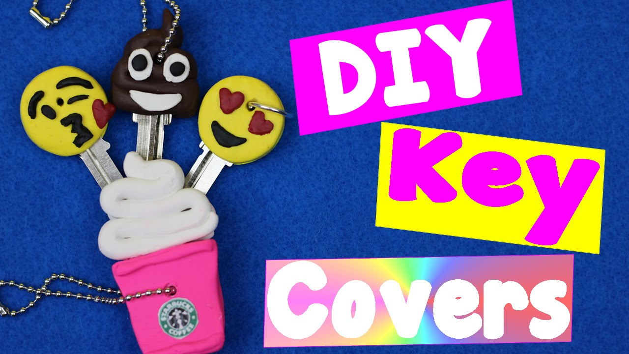 Diy Emoji Book Cover : How to decorate keys with polymer clay diy starbucks