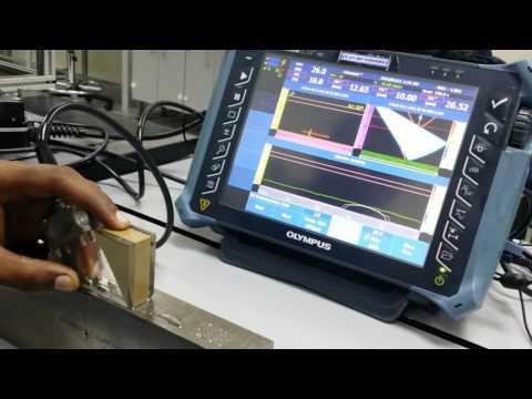Phased Array Omni MX2, Learn sensitivity calibration, Wedge Delay,  TCG, Calibration Confirmation