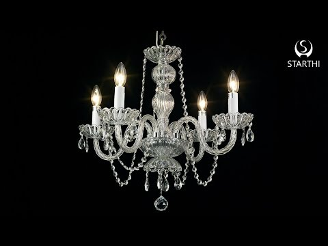 4-Light Crystal Chandelier Assembling and Installation Video
