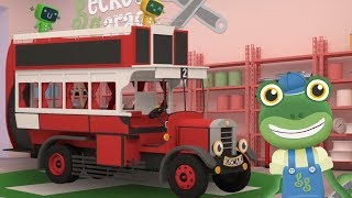 Gecko's Garage - Oscar The Old Bus Goes To Gecko's Garage | Vehicles For Kids | Cartoons For Kids