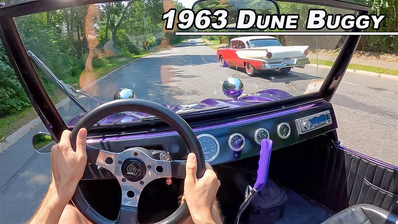 Driving A Dune Buggy! VW 1600cc Air-Cooled on Street (POV Binaural Audio)