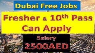High School Pass Jobs In Dubai With Free Visa Salary :- 2500AED | Hindi Urdu |