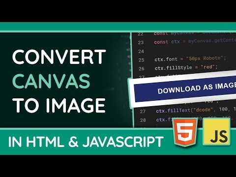 Convert HTML5 Canvas To Image (PNG Or JPG) - JavaScript Tutorial