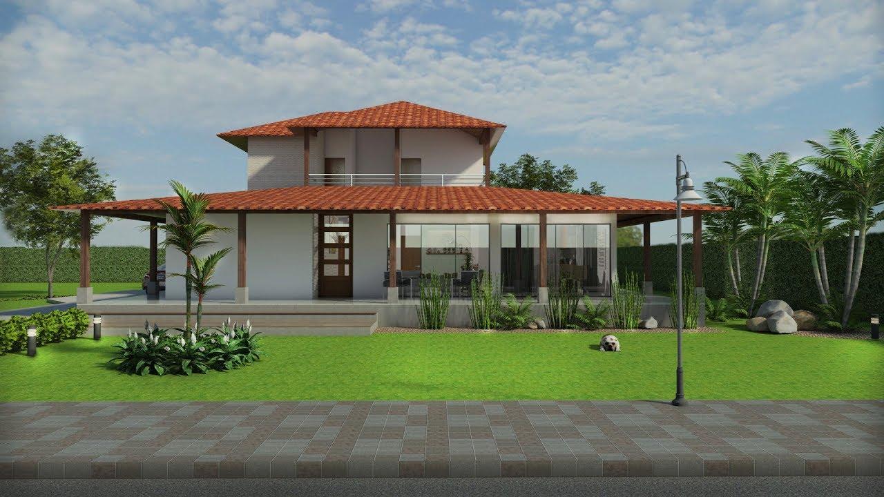 planos de casa campestre con aleros de 197 m2 arquitecto On planos para casas campestres