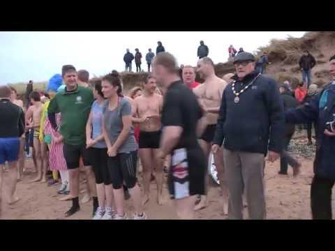Leap of the Dog New Year Swim 2015 - Magilligan Point, Limavady