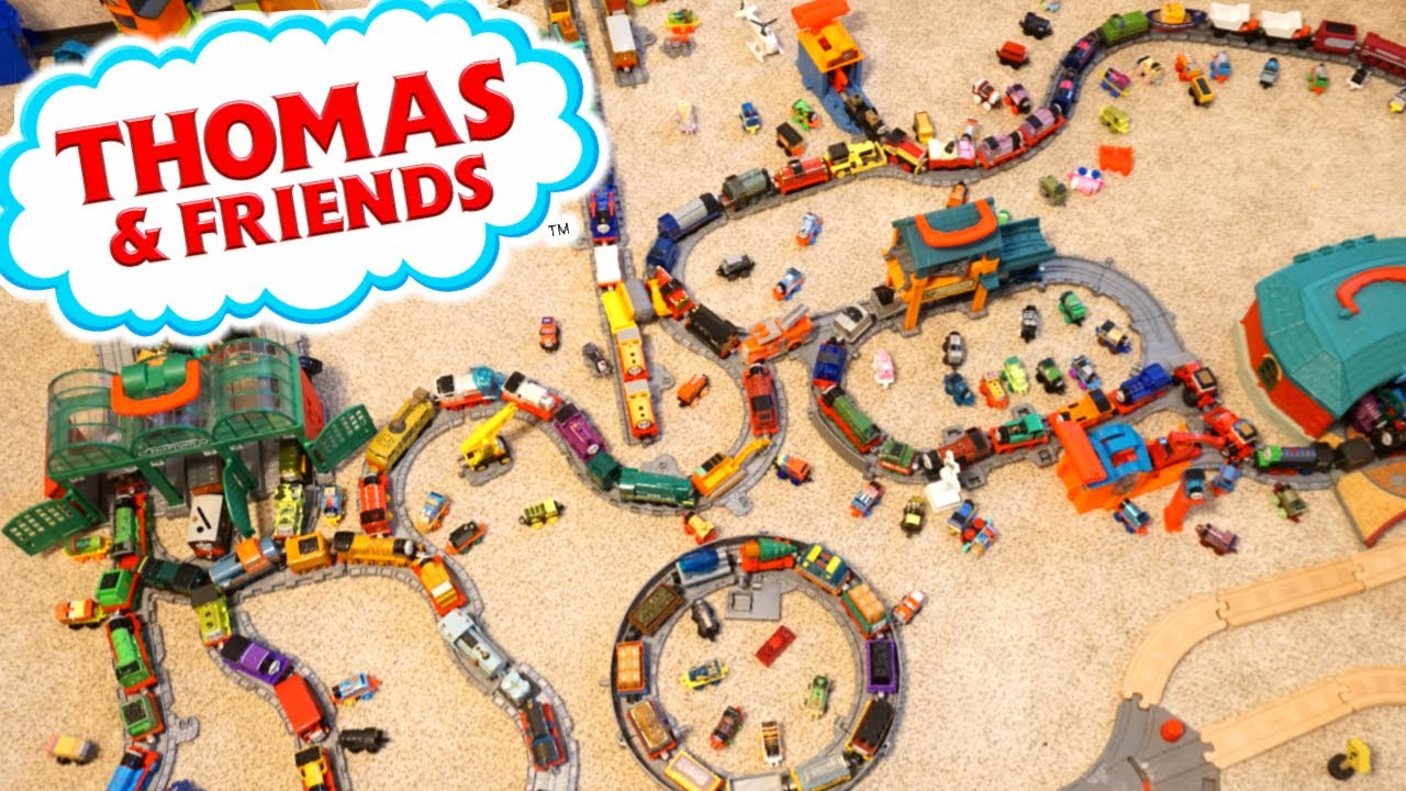 Huge Island of Sodor Thomas and Friends Collection Trackmaster and Push Along BWBA Trains and Tank E
