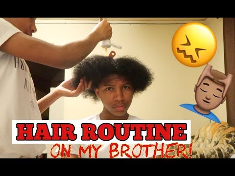I DID A CURLY HAIR ROUTINE ON MY BROTHER! *HE DIDN'T LIKE IT!*
