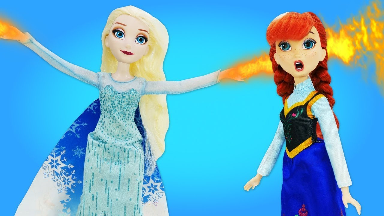 Куклы Эльза Холодное Сердце иАнна— Эльза съела ПИРОГ НАОБОРОТ истала злой! —Видео для девочек