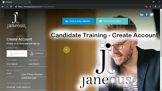Janeous Candidate - Account Creation