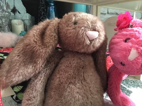 He has no manners, made with jellycat bunnies