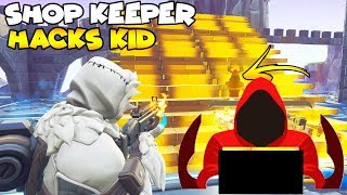 Did The Shop Keeper Hack Him! 😱 (Scammer Gets Scammed) Fortnite Save The World