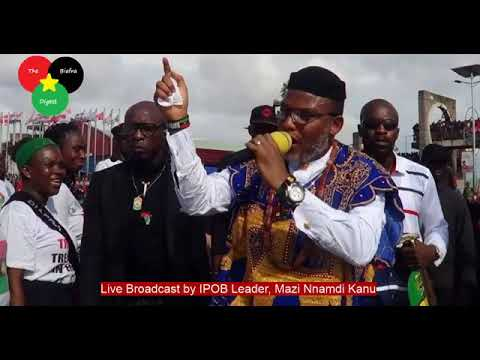 Special broadcast,Biafra Must listen message of,8/12/2019 broadcast of mazi nnamdi Kanu