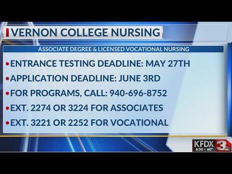 Vernon College nursing entrance testing deadline