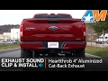 2015-2017 Ford F-150 Heartthrob 4? Aluminized Cat-Back Exhaust (5.0L) Sound Clip & Install