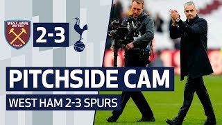 PITCHSIDE CAM | WEST HAM 2-3 SPURS | Unique angle of Mourinho's first Spurs win