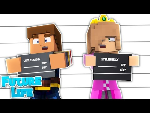 LITTLE KELLY AND DONNY COMMIT A CRIME! Minecraft Future Life (Custom Roleplay)