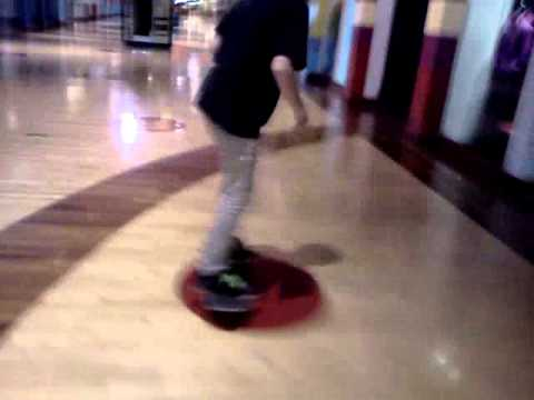 Skating in the mall