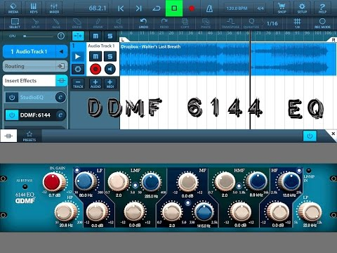 6144 equalizer by DDMF, Fantastic Audio Unit Effect, Demo for iPad