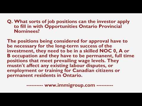 What sorts of job positions can the investor apply to fill in with OOPN?