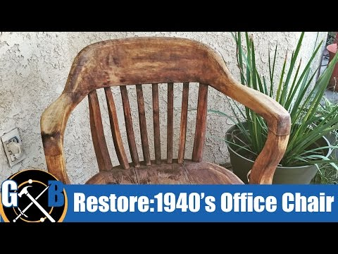 Attempting to Clean and Restore a Vintage 1940's Office Chair :: How To