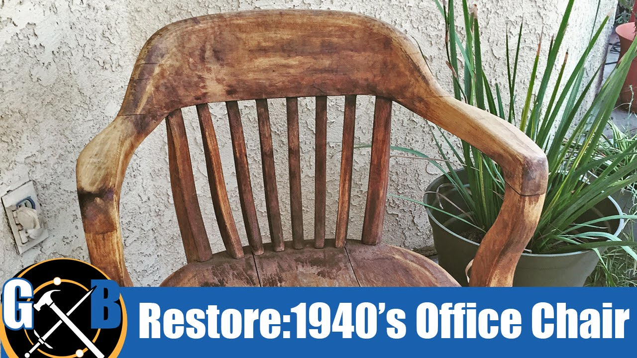 Wooden Bankers Chair Restoring A Vintage 1940 S Office Chair Attempt How To