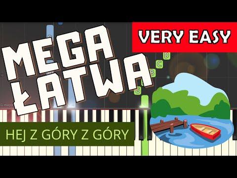 🎹 Hej z góry z góry - Piano Tutorial (MEGA ŁATWA wersja) 🎹