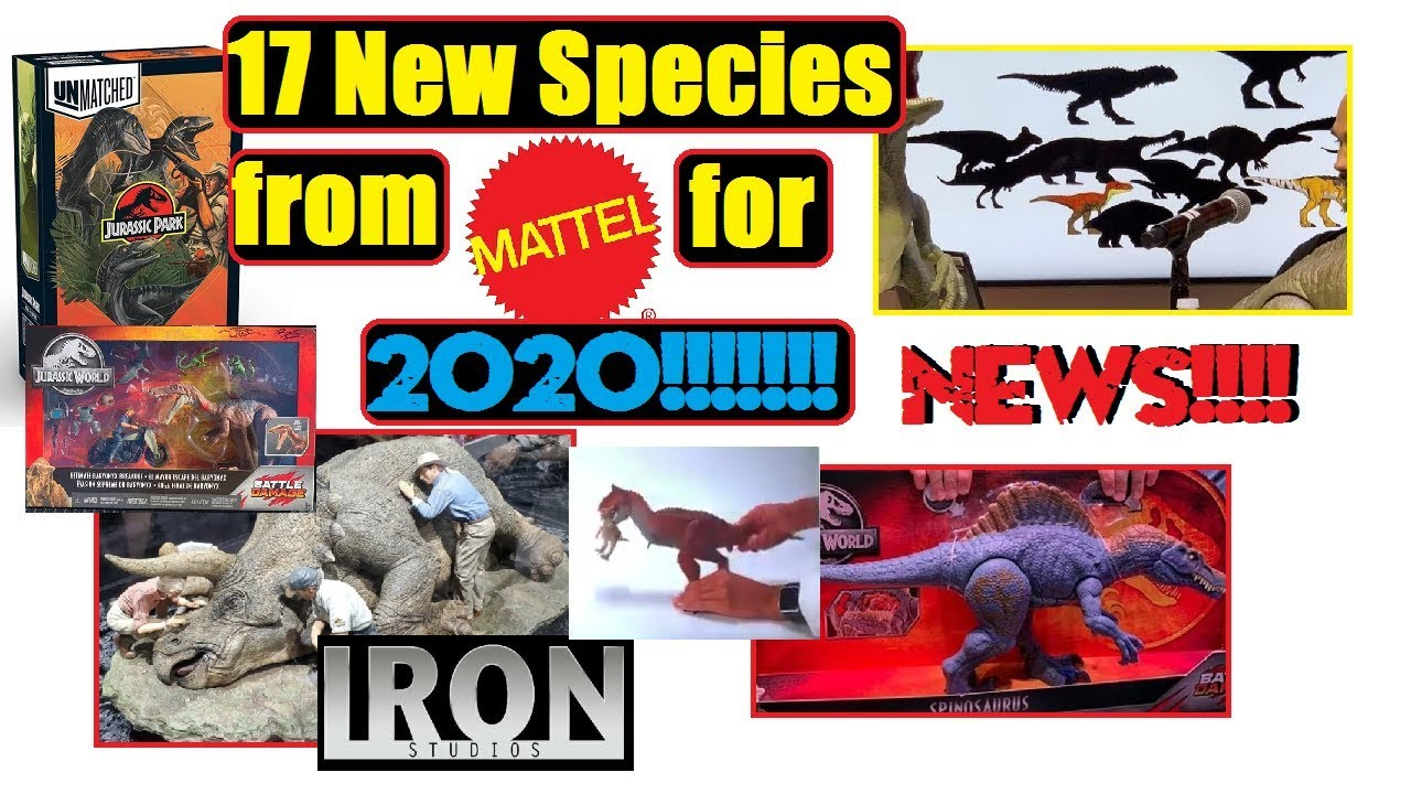 New Species Discovered 2020 News!!! Mattel releasing 17 new species in 2020 for Jurassic World