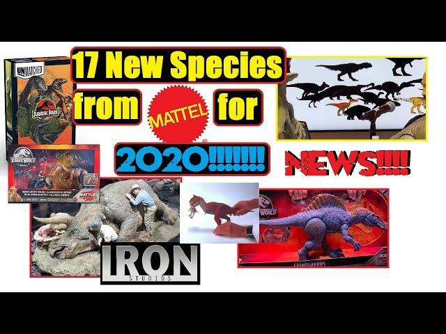 New Species 2020.News Mattel Releasing 17 New Species In 2020 For Jurassic