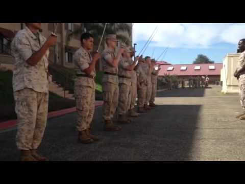 Me doing nco sword drill