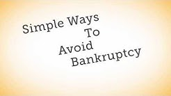 Different Ways To Avoid Bankruptcy & how to make more money