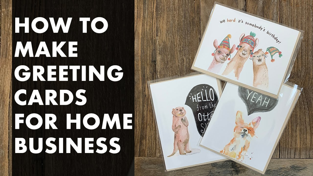 How to Make Greeting Cards for Your Home Stationery Business