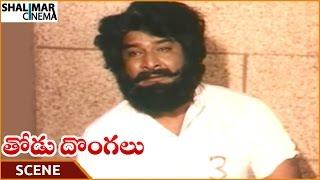 Thodu Dongalu Movie || Satyanarayana Telling Emotional Flashback || Chiranjeevi || Shalimarcinema