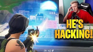 Tfue Finds 2 HACKERS Using Aimbot & DESTROYS Them! *INSANE* | Fortnite Highlights