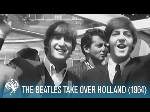 The Beatles Take Over Holland (1964) | British Pathé
