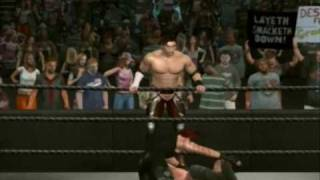 Smackdown vs. Raw 2009: Shinji and XIN Highlights(Create-A-Superstar)