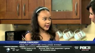 Kiana On Kdvr 31 Denver To Talk About White House Healthy Lunchtime Challenge Visit #kidsstatedinner