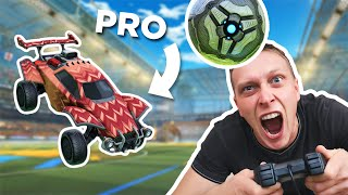Tricking toxic Rocket League players into 1v1ing a Pro (episode 2)