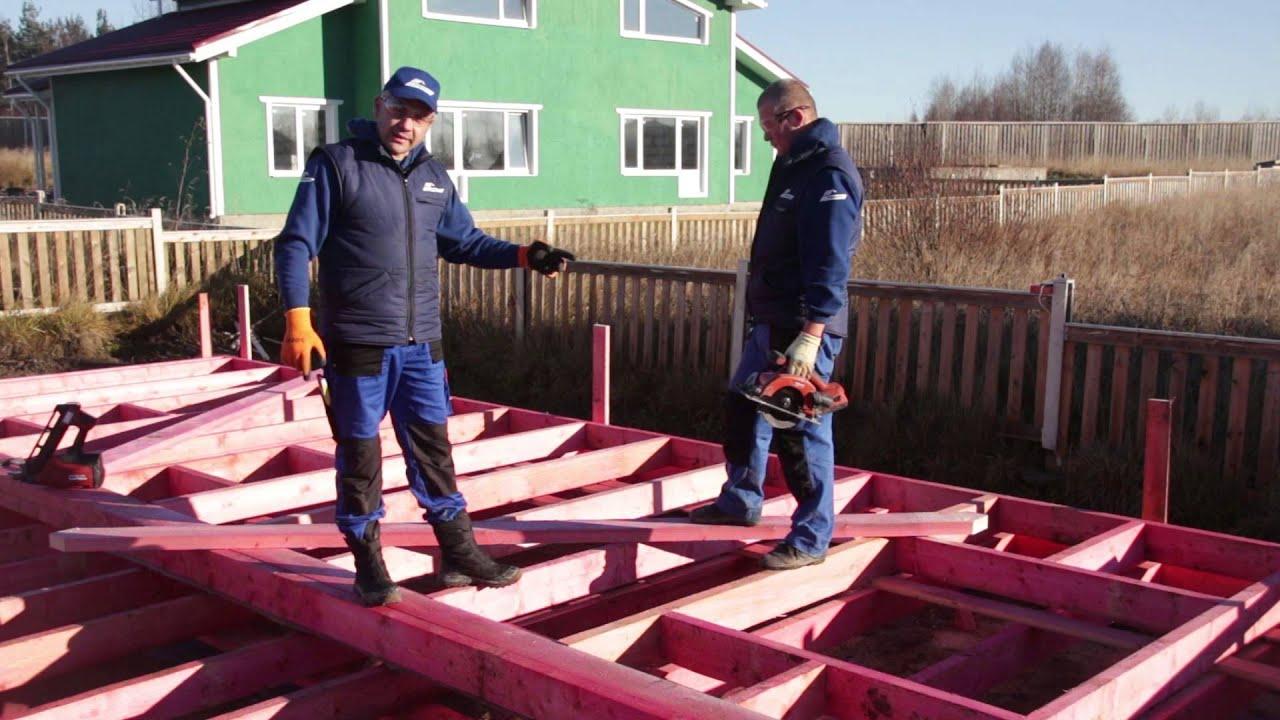 Строительство каркасного дома. Установка диагональных расскосин. Строй и живи.