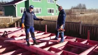 Строительство каркасного дома. Установка диагональных расскосин. Строй и живи.(, 2015-11-25T03:02:40.000Z)