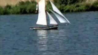 model cutter sailing