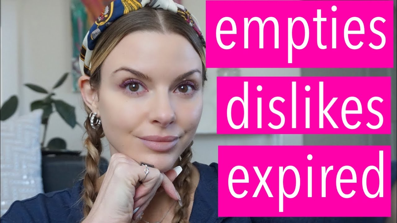 getting rid of empties, dislikes & expired skincare, makeup, hair, body | bauer beauty
